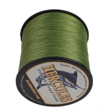 Hercules Army Green Braided Fishing Line