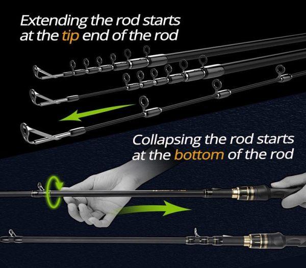 KastKing Blackhawk II Ultralight Telescopic Fishing Rod