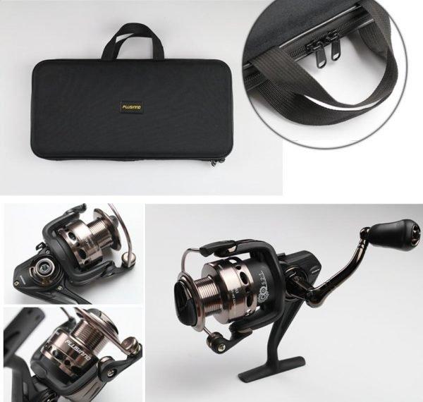 Plusinno Telescopic Retractable Fishing Pole Rod Kit