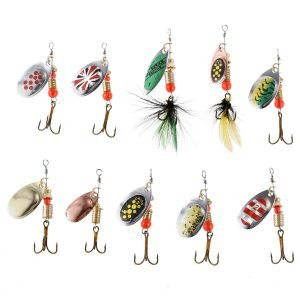 10 Pieces Spinner Fishing Bait with Hook