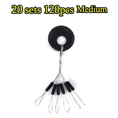 120 Pieces Fishing Float Space Bean Stopper