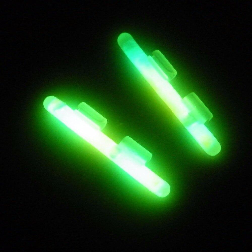 Fishing Glow Sticks for Pole 20 Pcs 10 Packs QualyQualy Clip On M L XL Green Fluorescent Light Stick Dry Type Luminous Wand Tubes Night Fishing Glow Stick Fishing Rod Tip Light