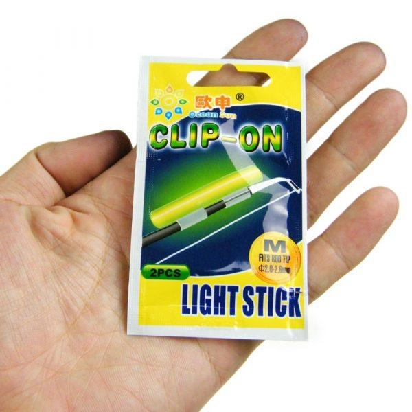 100 Pieces Fishing Pole Rod Clip On Glow Sticks