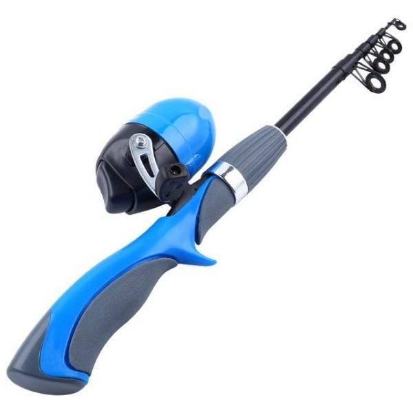 Portable Ice Fishing Rod and Spinning Reel Combo