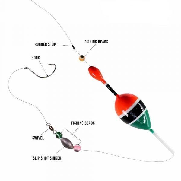 5pcs Fishing Bobber Rigs Balsa Wood