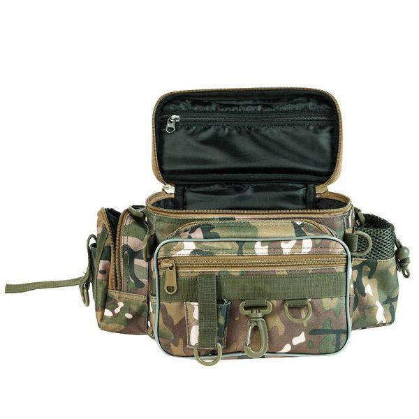 Multifunctional 3 Layer Canvas Fishing Bag