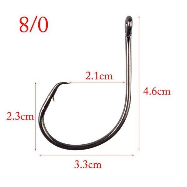 Hyaena 50 Pieces Extreme Sharp Fishing Hooks