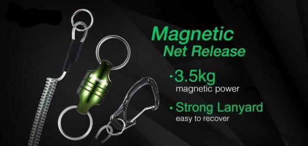 Piscifun Magnetic Aluminum Fishing Net Holder