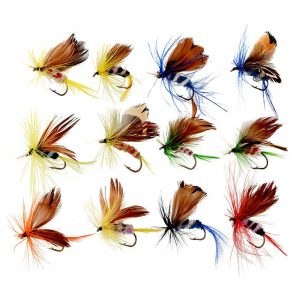 12 Insects Flies Fishing Lures Set