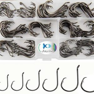 150 Pieces Carbon Steel Octopus Fishing Hooks