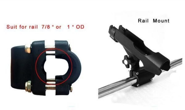 4 Pieces 360 Degree Fishing Rod Holders