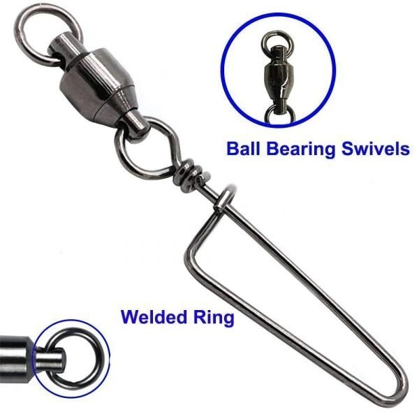 8 High-Strength Fishing Swivel With Snap