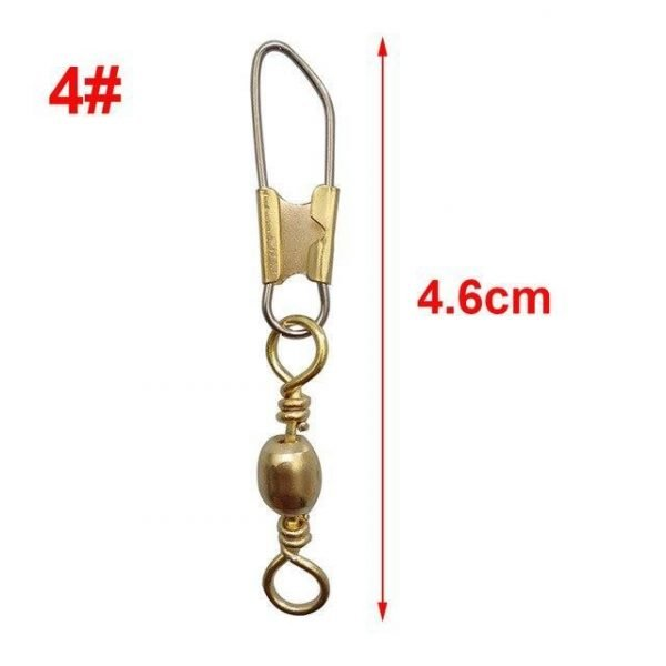 Hyaena Gold Barrel Swivel With Safety Snap