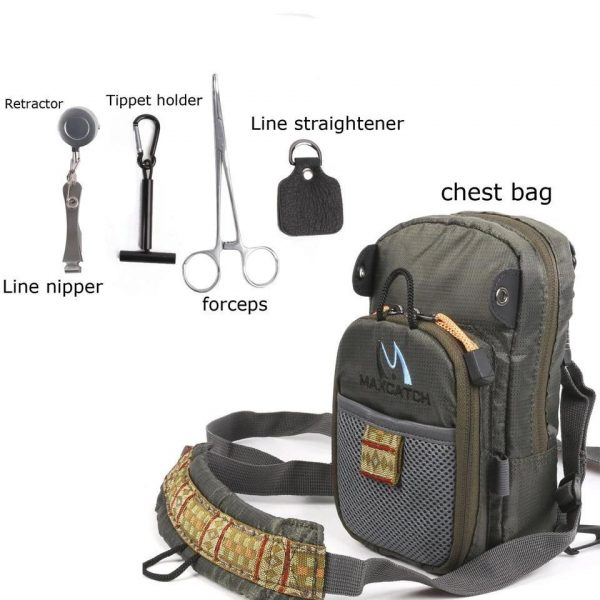 Fishing Chest Backpack with Fishing Tools