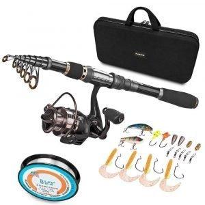 Plusinno Fishing Rod & Reel Combos Full Kit
