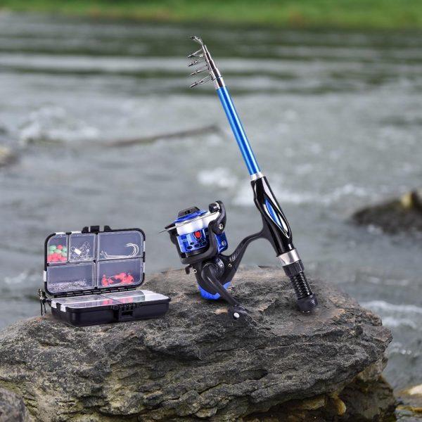 Complete Fishing Tackle Full Set Kit