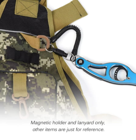 Lixada Fly Fishing Magnetic Net Release Holder with Lanyard