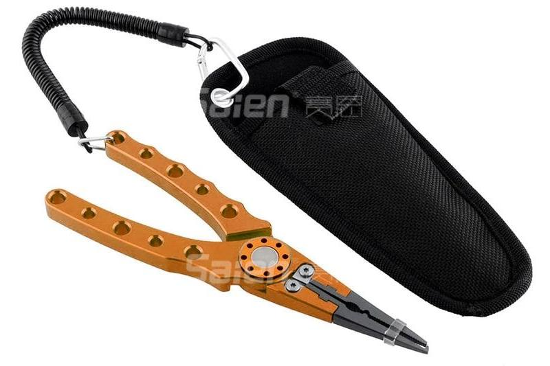Aluminum Fishing Pliers with Coil Lanyard